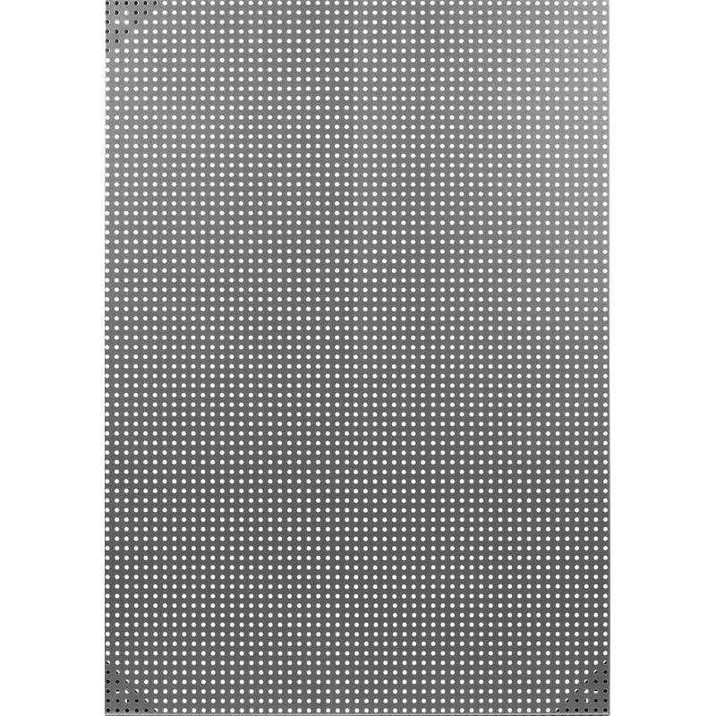 Доска для информации перфорированная Комус Репертуар 08-070 (90х64, хром)