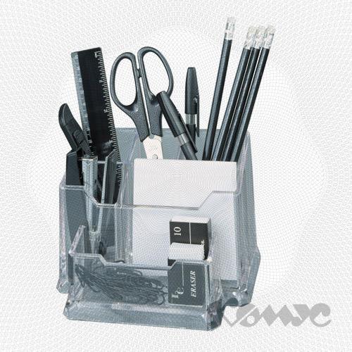 Настольный офисный набор.  Комплектация: - степлер, скобы для степлера; - ножницы...